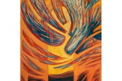 The fall of the angel 120 x 80 cm